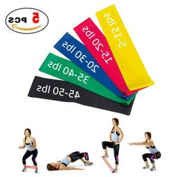 Heavy Resistance Bands Set of 5 Exercise Loop Gym Home Fitne