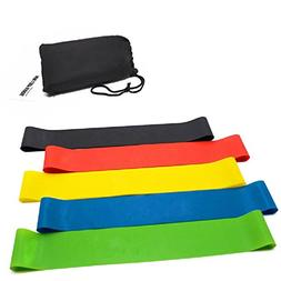 Mega Shop Hip Resistance Band Exercise Womens Men 5 Pcs/Set