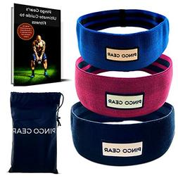 Hip Resistance Bands with Non Slip Design - Set of 3 - Low M