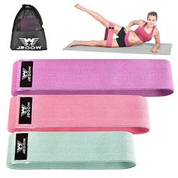 Hip Resistance Booty Bands Set Fabric Soft & Non Slip Design