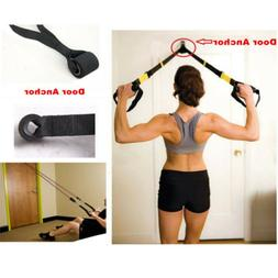 Home Fitness Resistance Bands Over Door Anchor Elastic Bands