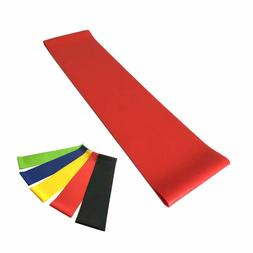 HOONSO Resistance Loops 12 x 3 inch Exercise Bands Set of 5