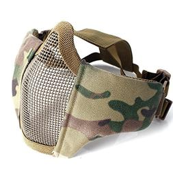 iMeshbean Foldable Half Face Mesh Mask Military Style Comfor