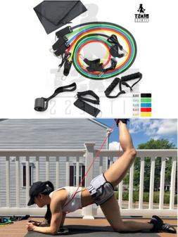 Indoor and Outdoor Custom 11 pcs gym resistance bands set