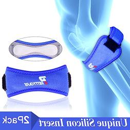 PrettyCare Knee Support Patella Strap (Unique Silicon Materi