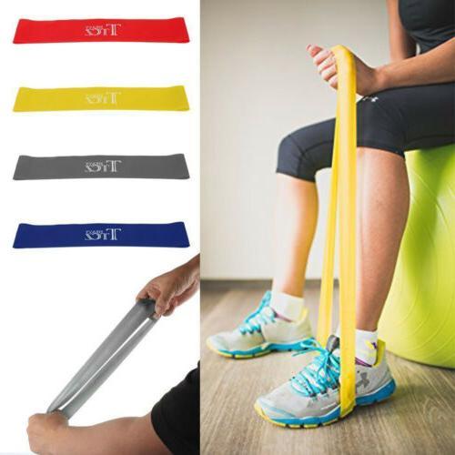 Resistance Loop Bands Elastic Fitness Strength Gym Yoga Trai
