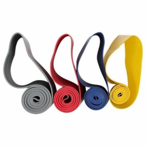 4 Level Exercise Loop Booty Resistance Bands Home Gym Fitnes