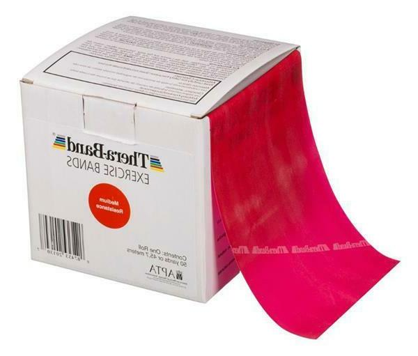 1 red thera band theraband resistance band