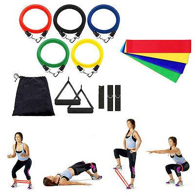 15 Pilates Workout Bands+Resistance