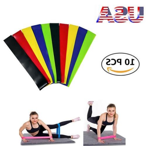 10 x resistance bands loop for yoga