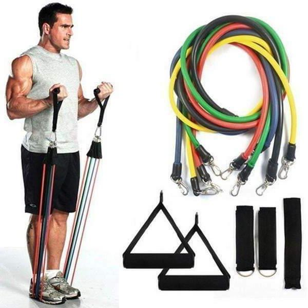 Set, Exercise Bands Workout, Gym Yoga