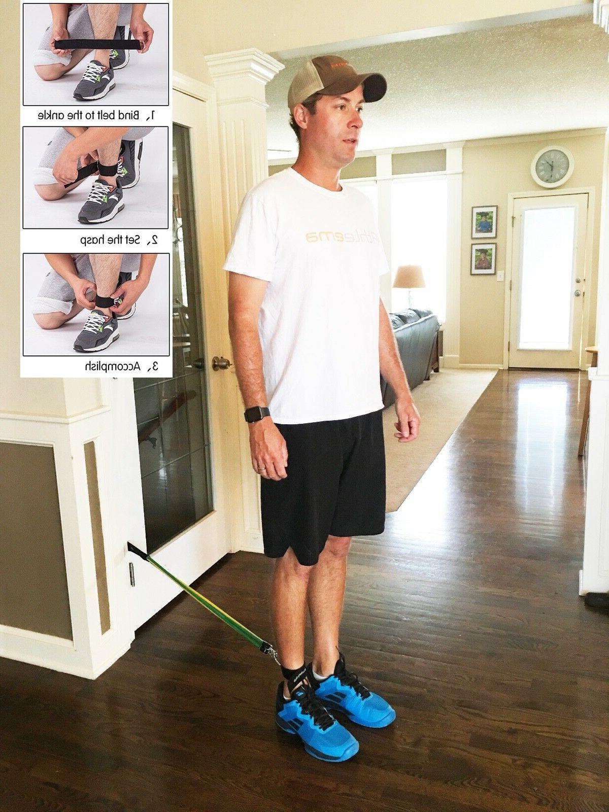Athleema pc Tube Resistance with Door Ankle Soft-Gri
