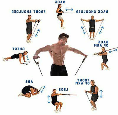CUXUS 11 pcs Resistance Band Set, with Exercise Foam