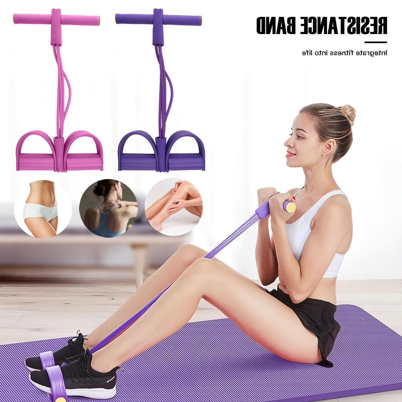 4 tubes yoga equipment sit up fitness