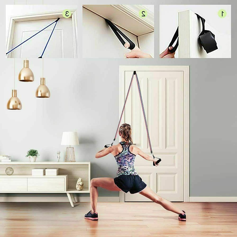 11 PCS Resistance Set Exercise Fitness Gym Workout Bands