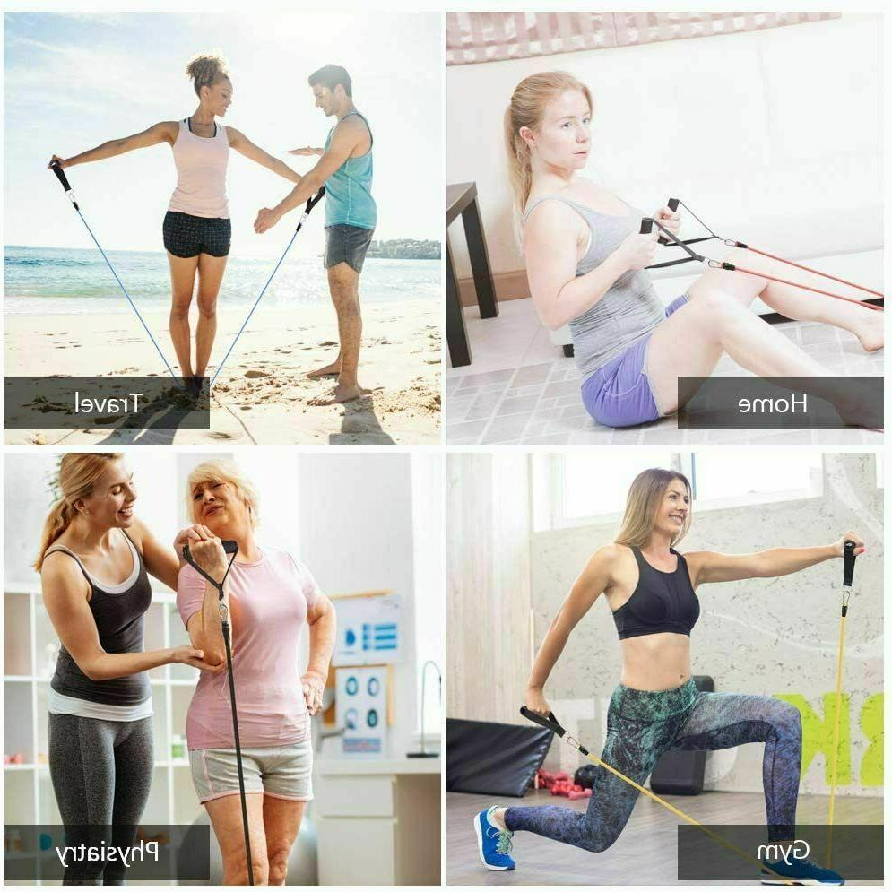 11 PCS Set Exercise Fitness Tube Home Workout