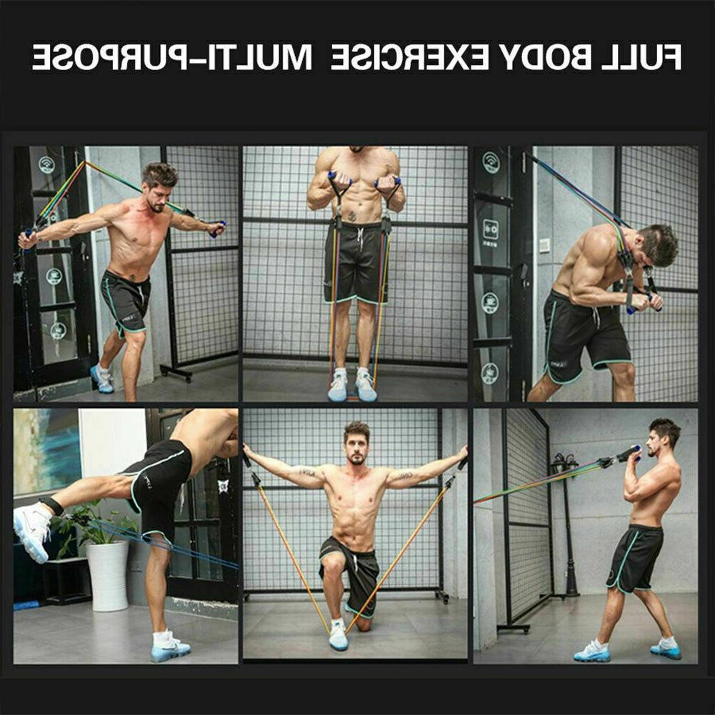 11 Set Yoga Abs Exercise Fitness Tube Gym Home Workout
