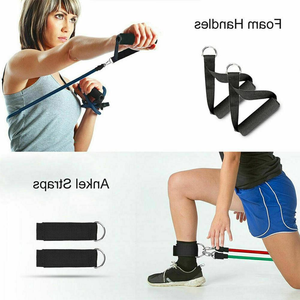11 PCS Resistance Set Yoga Abs Exercise Fitness Tube Gym Workout Bands