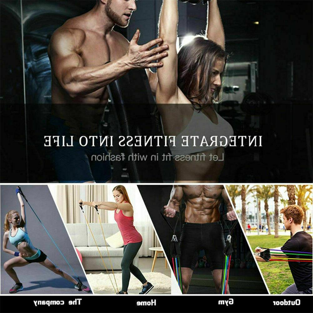 11 PCS Set Yoga Abs Exercise Fitness Workout Bands