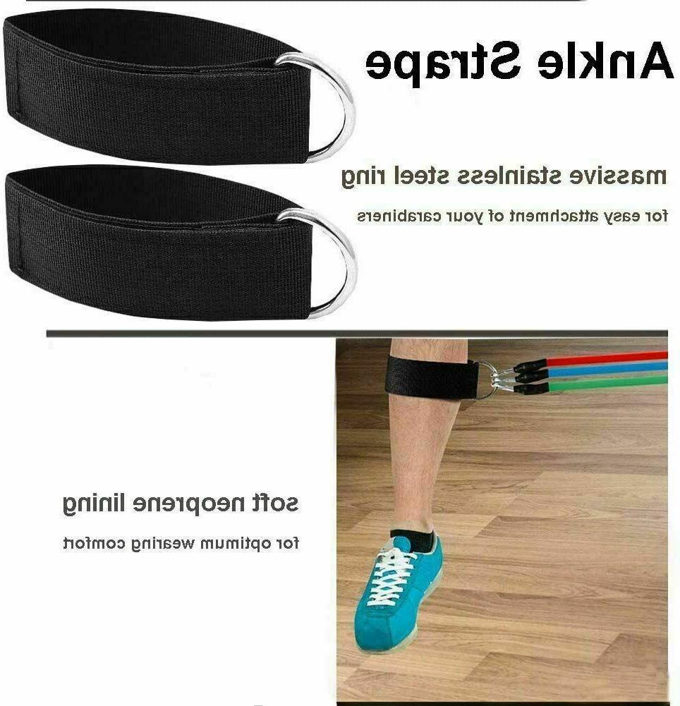 11 PCS Resistance Bands For Workout Yoga Pilates Exercise Tube