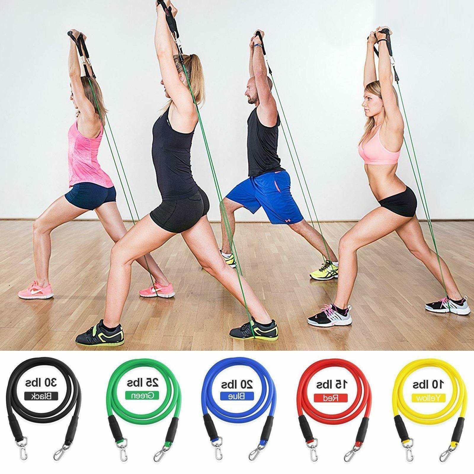 11 PCS Band Set Pilates Exercise Bands