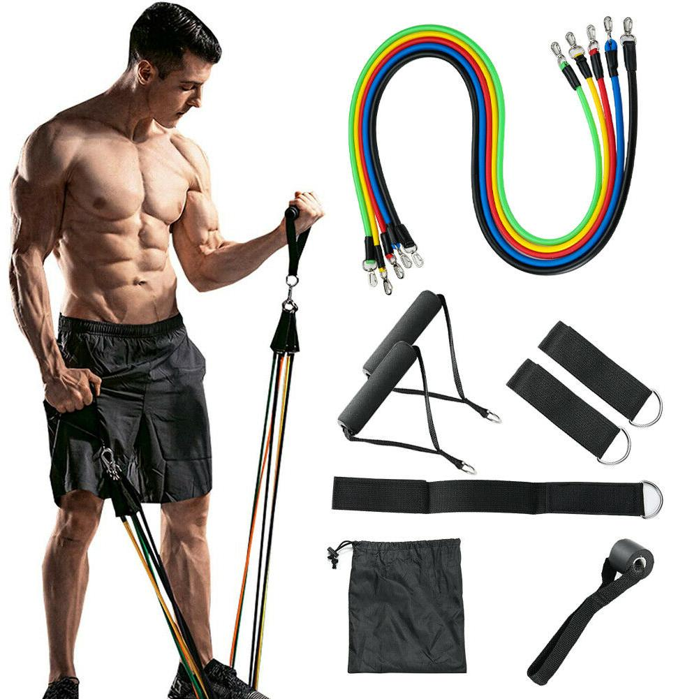 11 pcs resistance bands fitness tube workout