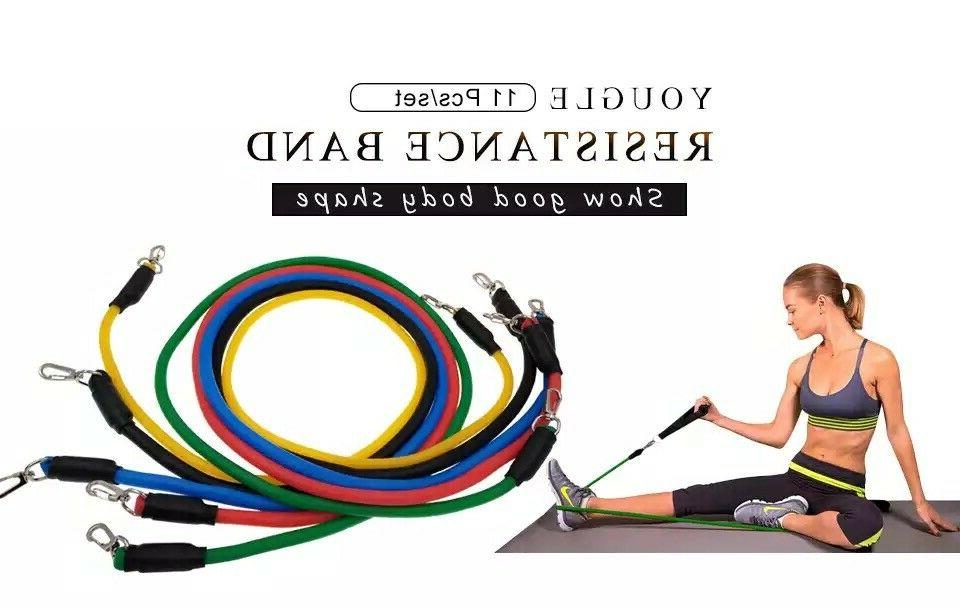 11 Bands For Home Pilates Abs Fitness Tube