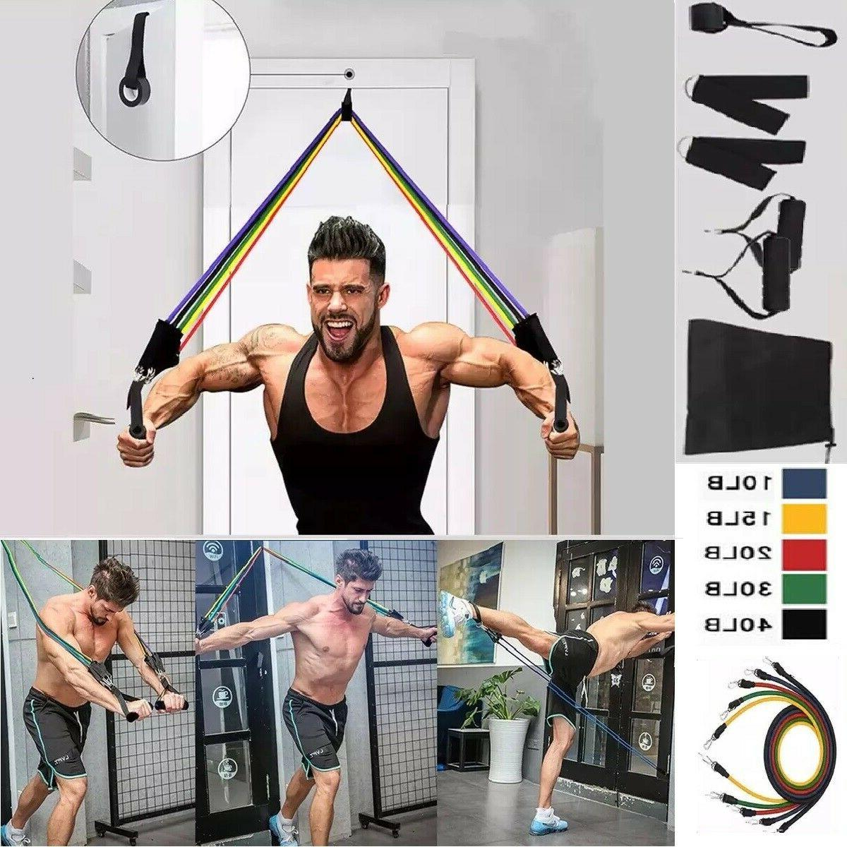 11 pcs resistance bands for home workout