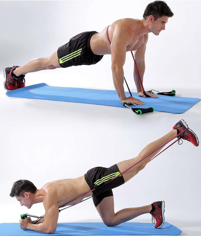11 PCS Resistance Yoga Tube Workout Bands