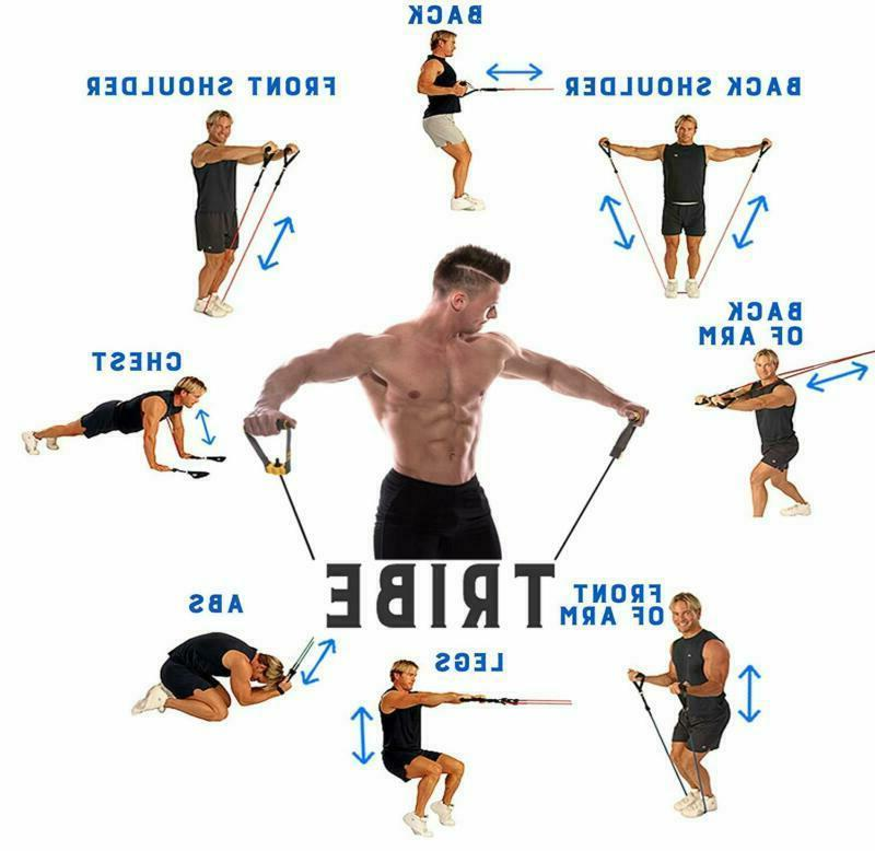 11Pc Bands Set Workout With Anchor Ankle New