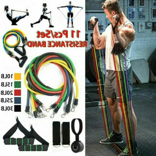 11PCS RESISTANCE BANDS HOME GYM EXERCISE
