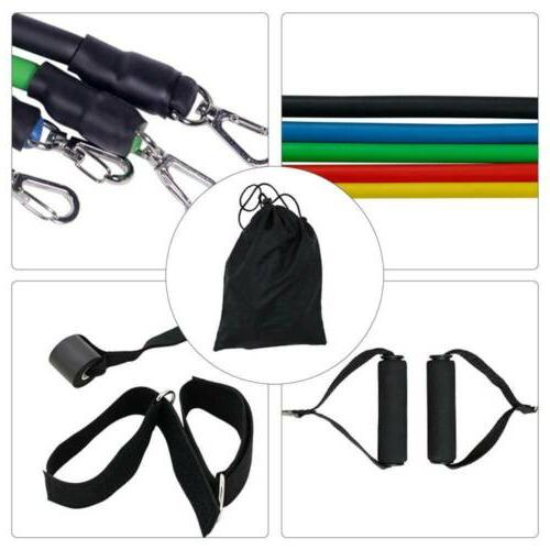 Pilates Home Workout Resistance Bands Set Physical