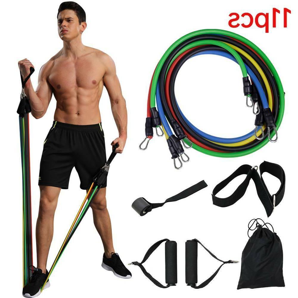 11pcs resistance bands set workout bands