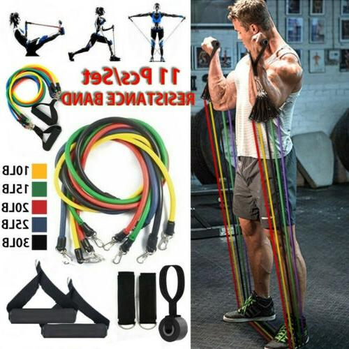 11pcs set resistance bands workout exercise yoga