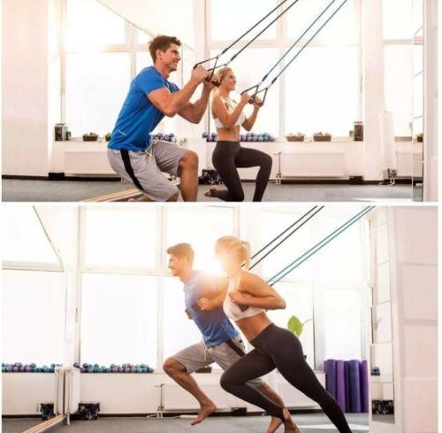 11PCS Yoga Pilates Resistance Band Exercise Fitness Tube