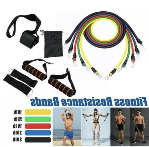 11pcs yoga pilates resistance band set abs