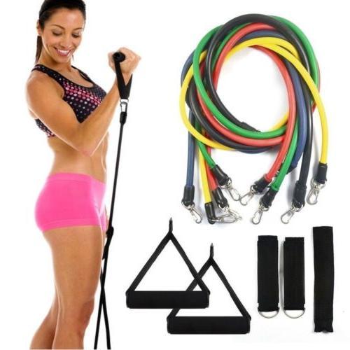 11x resistance bands yoga fitness equipment elastic