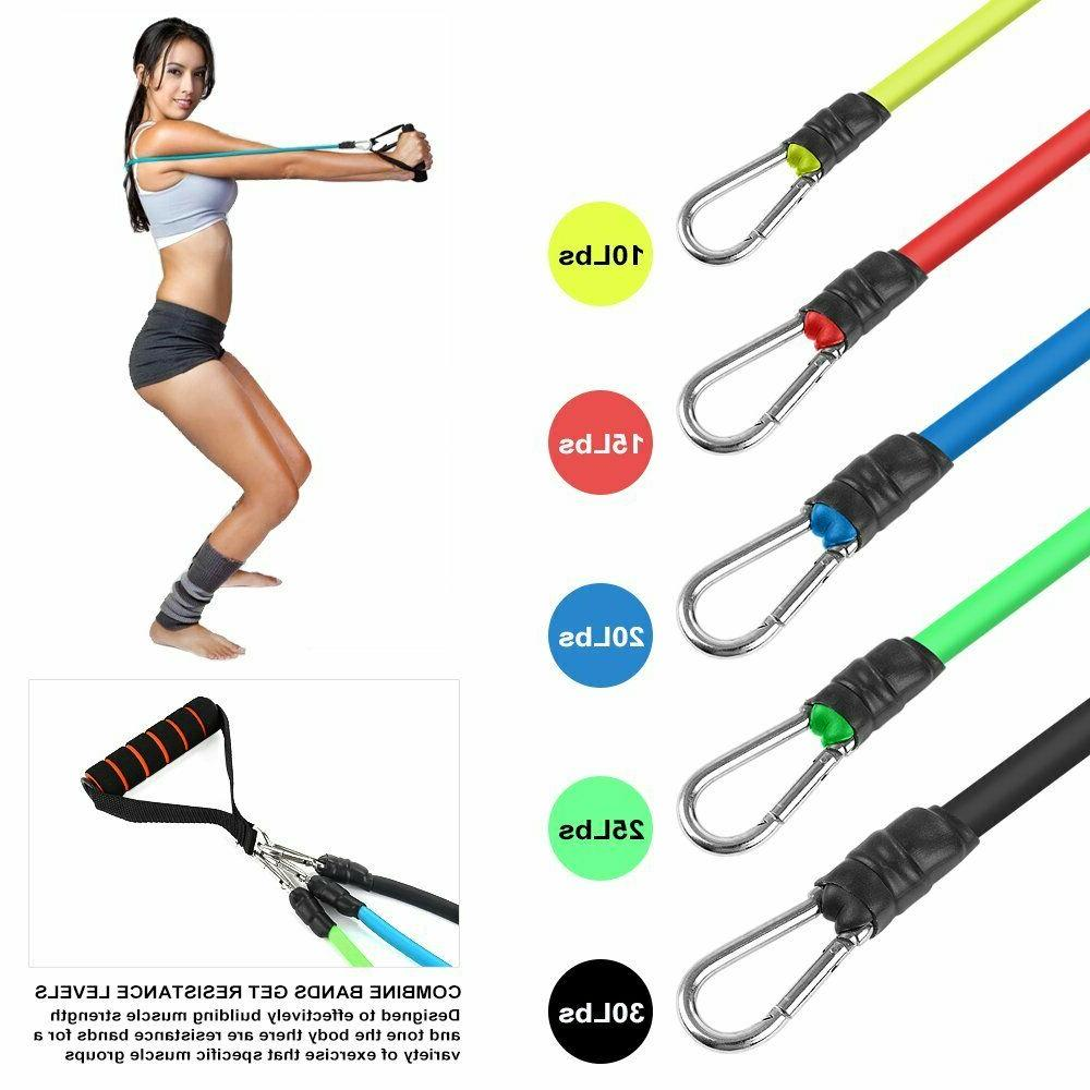 Resistance Bands Fitness Train Loop Set Exercise Elastic