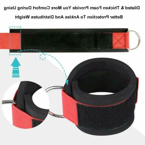 2 Exercise Ankle Straps Weight D Cable