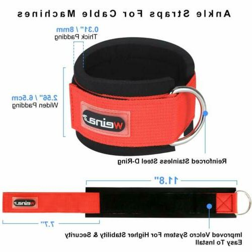 2 Exercise Ankle Straps Weight Lifting D Strap