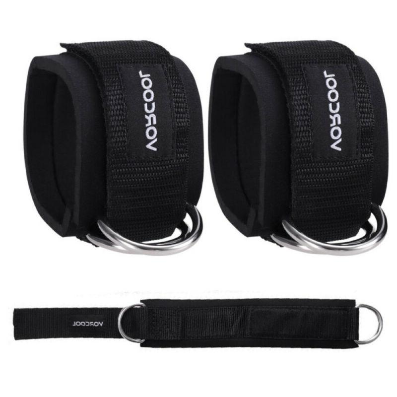 2x weight lifting ankle d ring pair