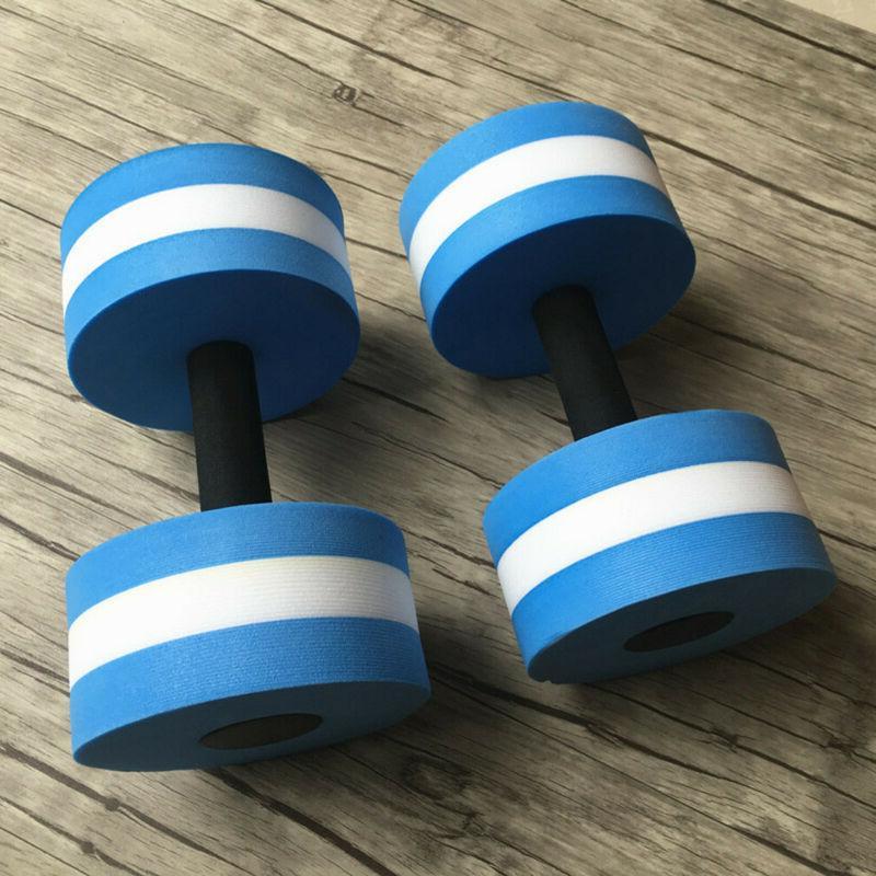 2pcs Dumbbells EVA Barbell Aqua Exercise