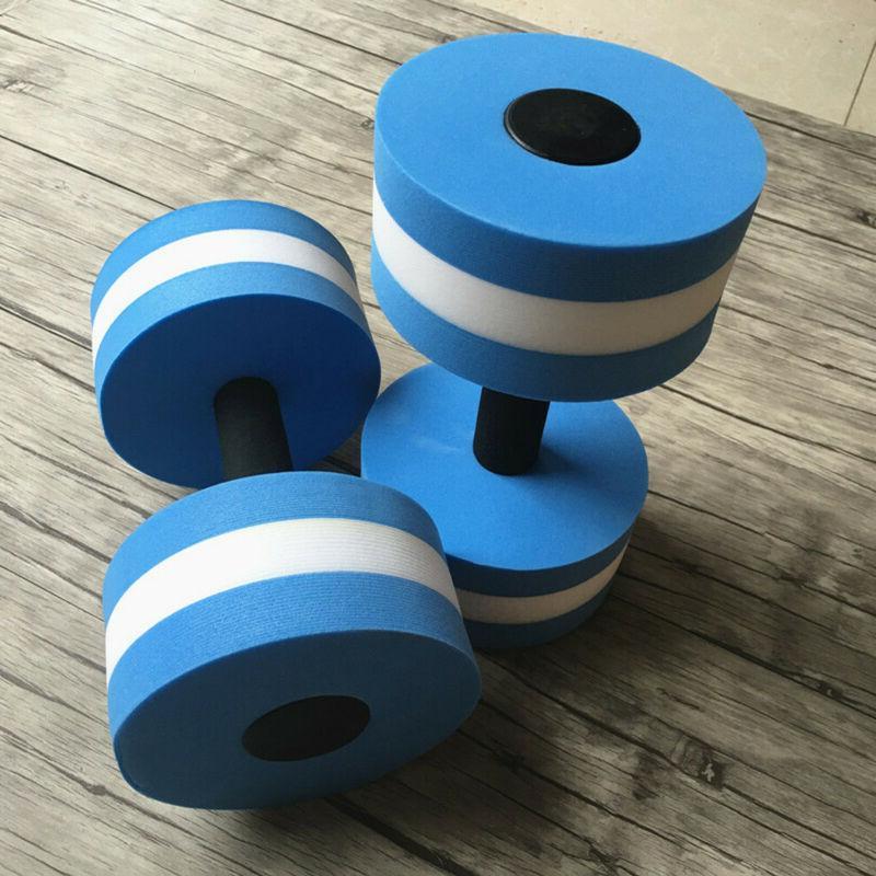 2pcs Water Aerobics Dumbbells EVA Aqua Exercise