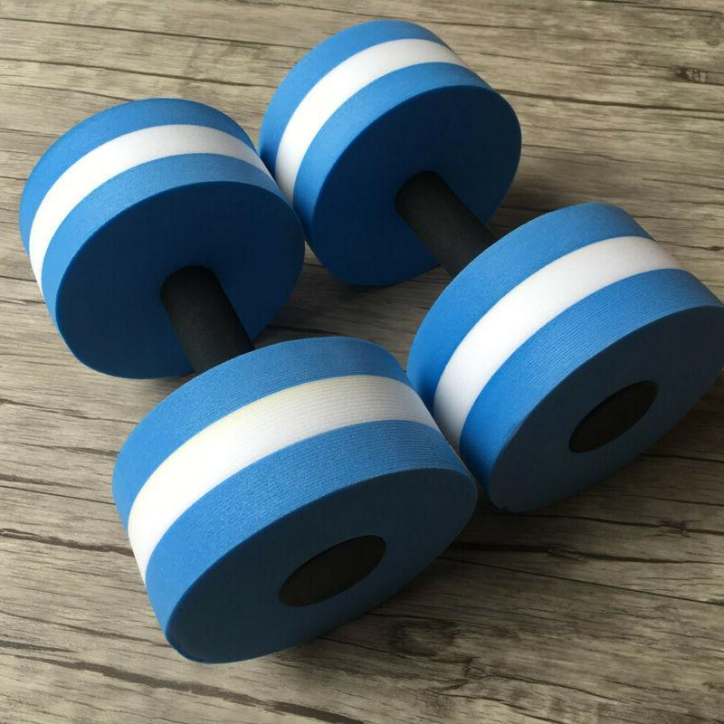 2pcs Water Aerobics Dumbbells EVA Aqua Pool Exercise