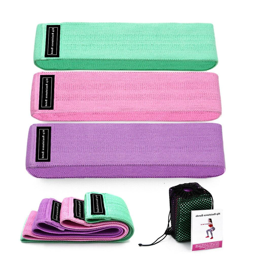 3 piece fitness rubber bads resistance bands