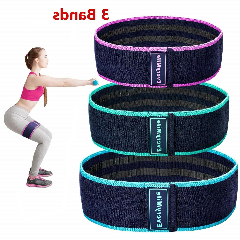 3 resistance bands exercise legs butt hip