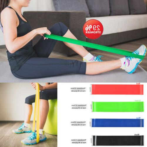 4 Exercise Resistance Loop Bands for Fitness Stretch Strengt