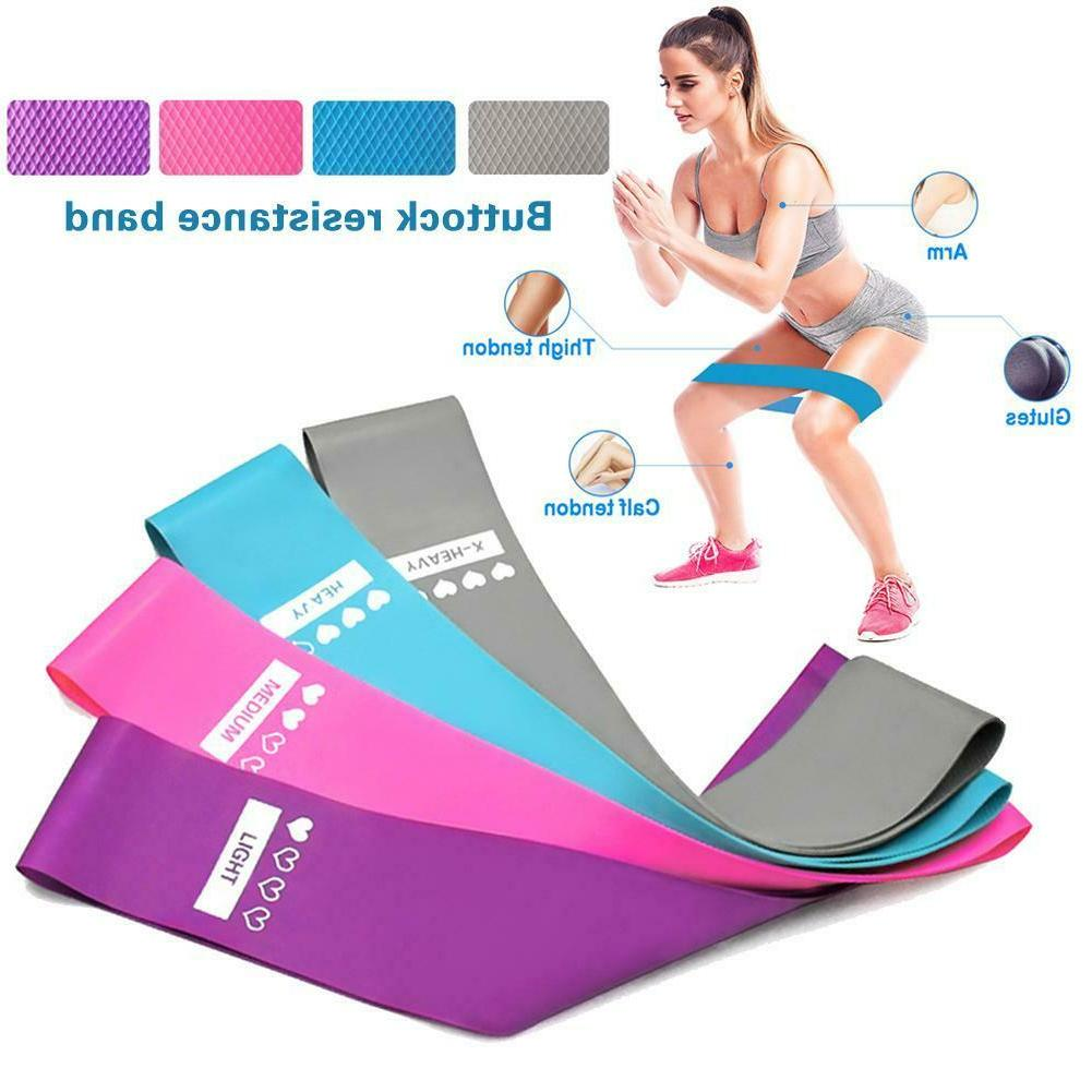 4 hip resistance bands booty loop band