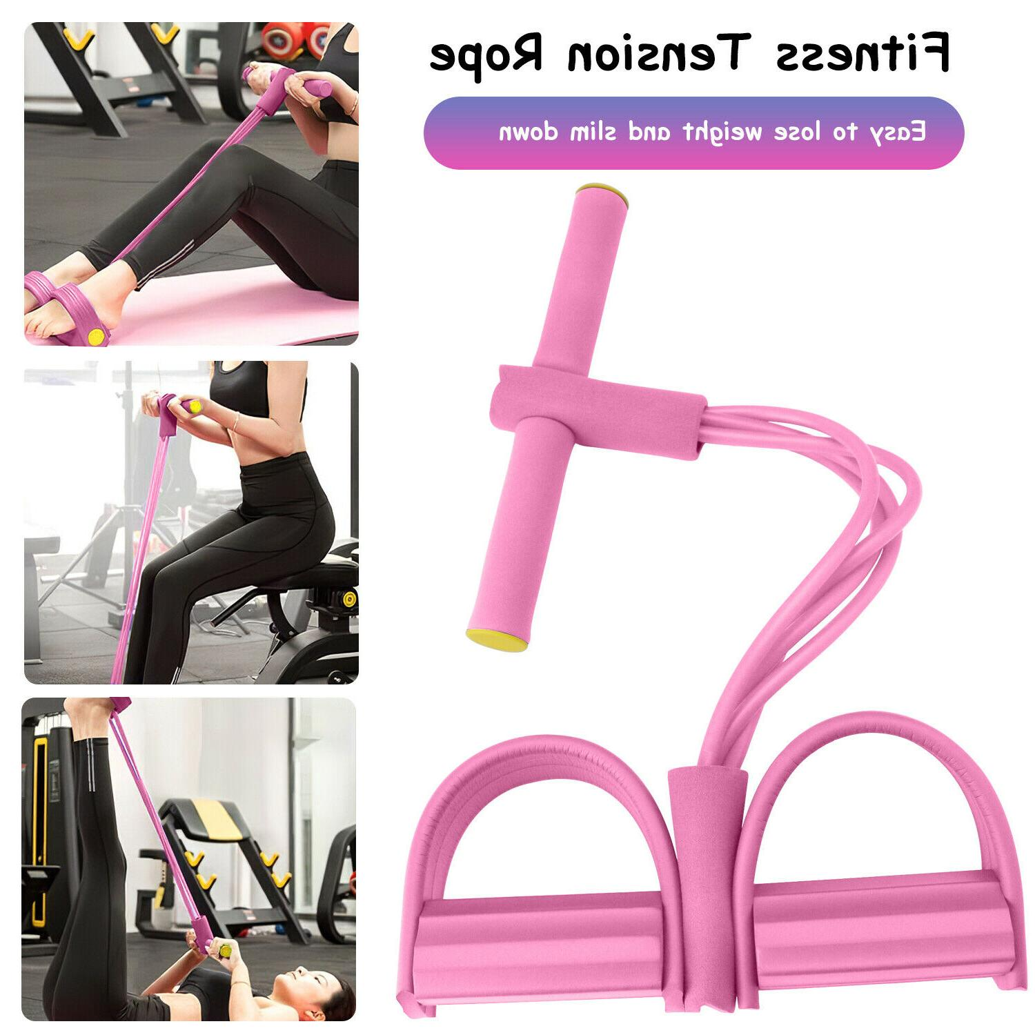 4-Tubes Yoga Fitness Foot Rope Exercise