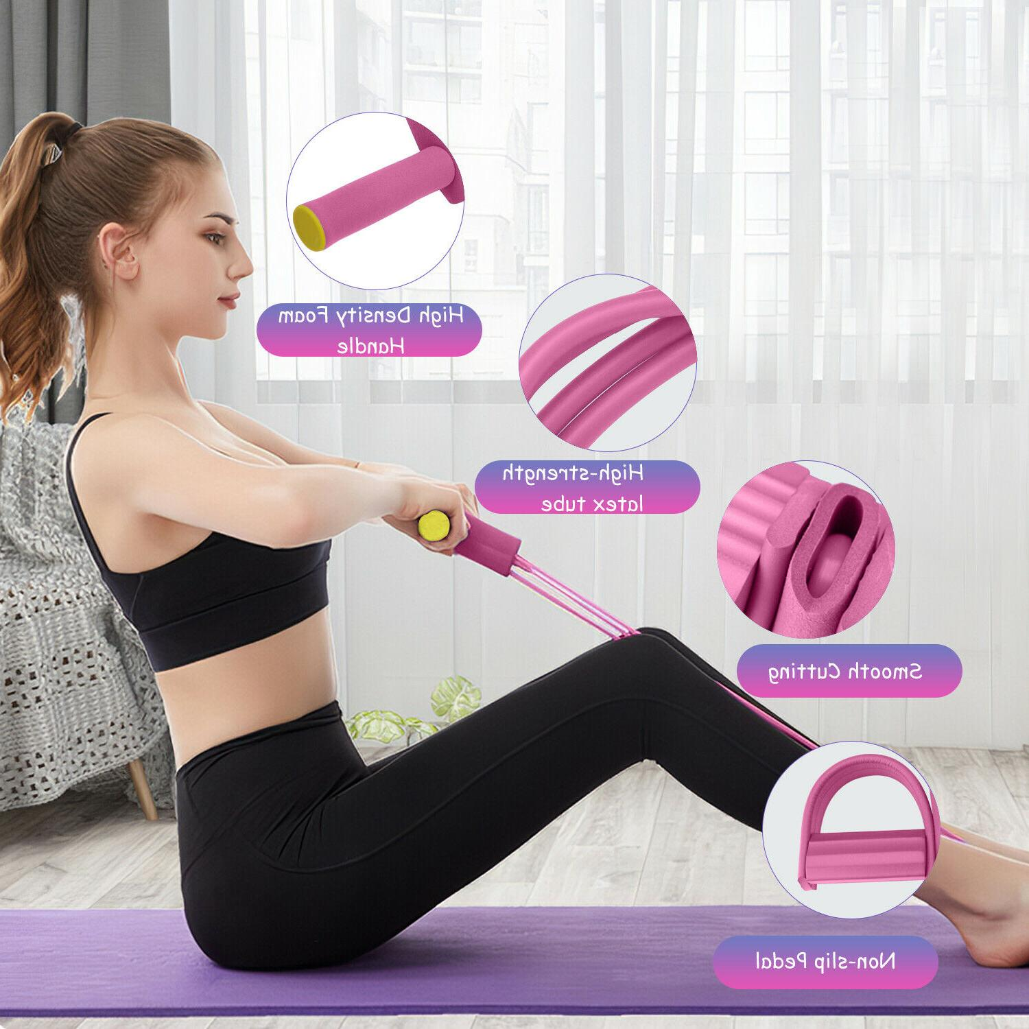4-Tubes Yoga Fitness Rope Resistance Exercise